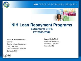 NIH LOAN REPAYMENT  PROGRAM EVALUATION