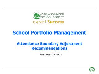 School Portfolio Management  Attendance Boundary Adjustment Recommendations