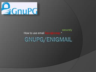GnuPG/Enigmail