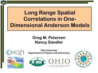Long Range Spatial Correlations in One-Dimensional Anderson Models