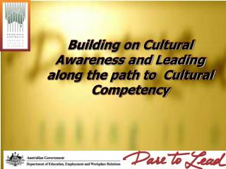 Building on Cultural Awareness and Leading along the path to  Cultural Competency