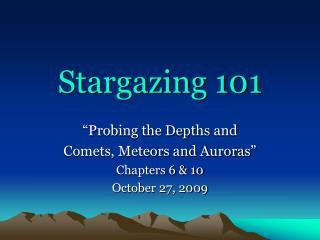 Stargazing 101
