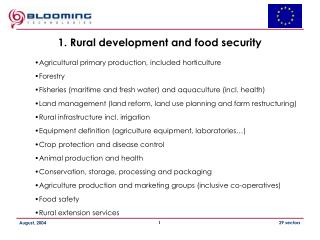 1.  Rural development and food security