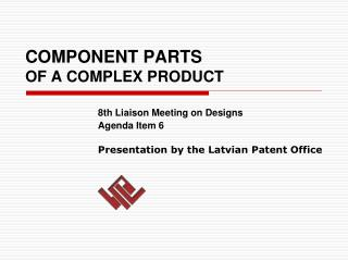 COMPONENT PARTS  OF A COMPLEX PRODUCT