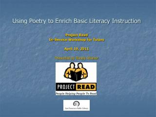 Using Poetry to Enrich Basic Literacy Instruction