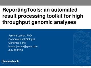 ReportingTools: an automated result processing toolkit for high throughput genomic analyses