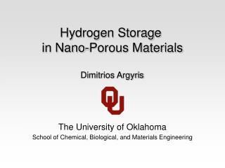 Hydrogen Storage  in Nano-Porous Materials