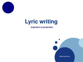 Lyric writing