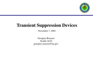 Transient Suppression Devices  November 7, 2002