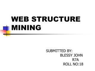 Document Links,Web Page Structures
