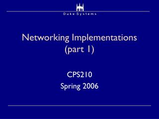 Networking Implementations (part 1)
