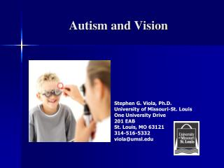 Autism and Vision