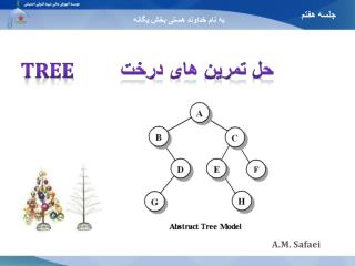 حل تمرین های درخت