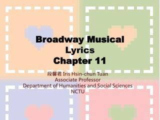 Broadway Musical Lyrics Chapter 11