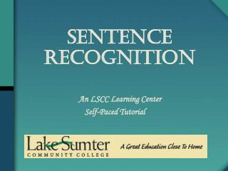 Sentence  Recognition