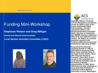 Funding Mini-Workshop