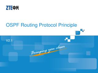 OSPF Routing Protocol Principle