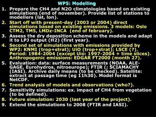 WP5: Modelling