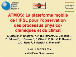 1 LMD    2 LSCE/CEA   3 SA  Institut Pierre Simon Laplace