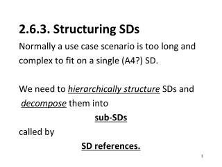 2.6.3. Structuring SDs