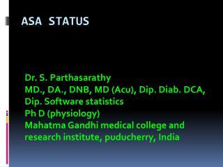 ASA status