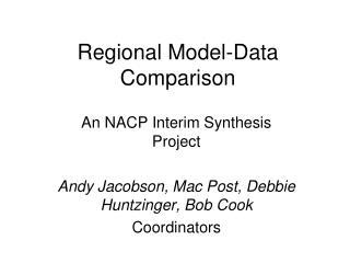 Regional Model-Data Comparison