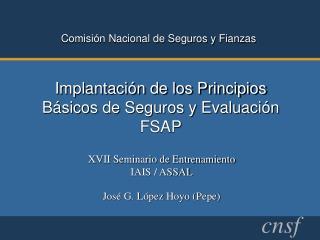 Implantación de los Principios Básicos de Seguros y Evaluación FSAP