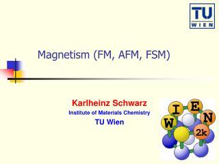 Magnetism (FM, AFM, FSM)