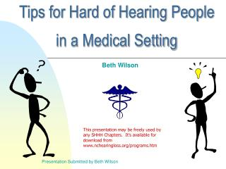 Tips for Hard of Hearing People  in a Medical Setting
