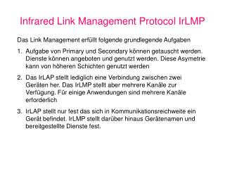 Infrared Link Management Protocol IrLMP