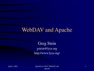 WebDAV and Apache