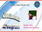 Lions Clubs MD201 Q3