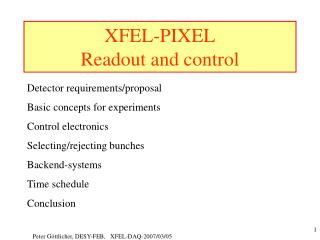 XFEL-PIXEL Readout and control