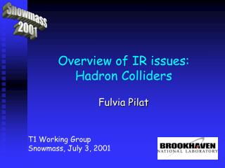 Overview of IR issues: Hadron Colliders