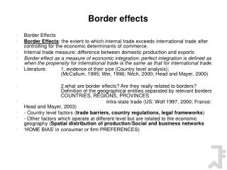Border effects