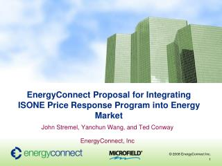 EnergyConnect Proposal for Integrating ISONE Price Response Program into Energy Market