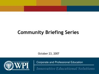 Community Briefing Series