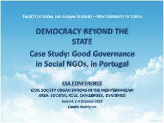 Faculty of Social and Human  Sciencies  � New University of Lisbon