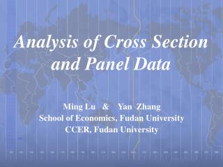 Analysis  of  Cross Section  and Panel Data