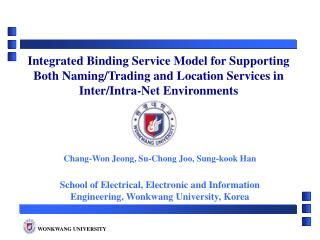 Chang-Won Jeong, Su-Chong Joo, Sung-kook Han