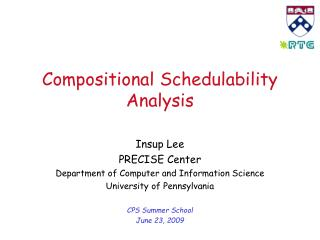 Compositional Schedulability Analysis