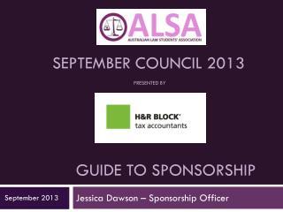 Guide to sponsorship