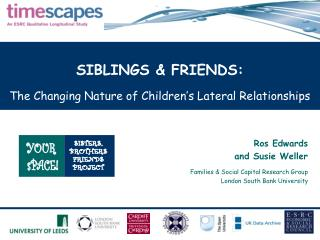 SIBLINGS & FRIENDS:  The Changing Nature of Children's Lateral Relationships