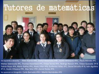 Tutores de matemáticas