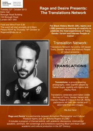 Rage and Desire Presents:  The Translations Network