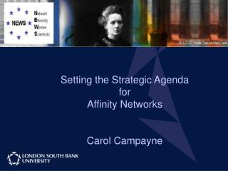 Setting the Strategic Agenda  for  Affinity Networks Carol Campayne