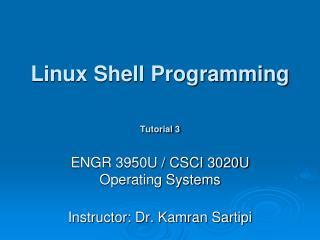 Linux Shell Programming Tutorial 3