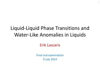 Liquid-Liquid Phase Transitions and Water-Like Anomalies in Liquids