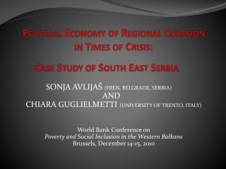 Political Economy of Regional Cohesion  in Times of Crisis: Case Study of South East Serbia