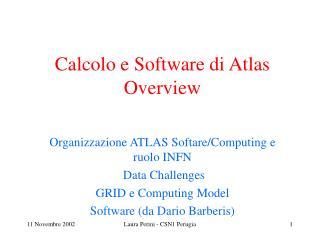 Calcolo e Software di Atlas Overview